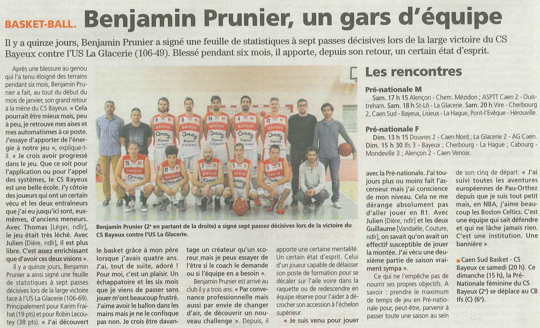 Cercle Presse Sportif Bayeux Basket Revue Csb De Club FPw5x